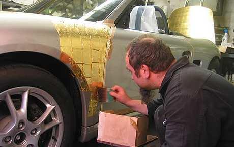 Vergoldeter Porsche Boxster 1
