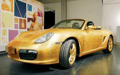 Vergoldeter Porsche Boxster 3