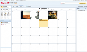 yahoocalendarscreen 300x182 Yahoo bringt neuen Kalender   Feuert 3500 Angestellte, feiert Party.